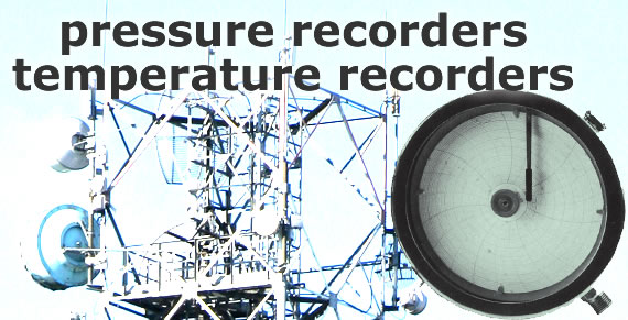 pressure recorders - temperature recorders