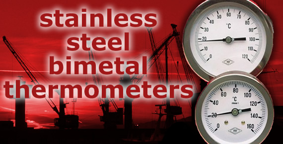 stainless steel bimetal thermometers